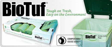 BioTuf Compostable Can Liners by Heritage