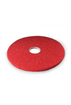 "16"" Red Spray Buffing Floor Pad. 5/Cs"