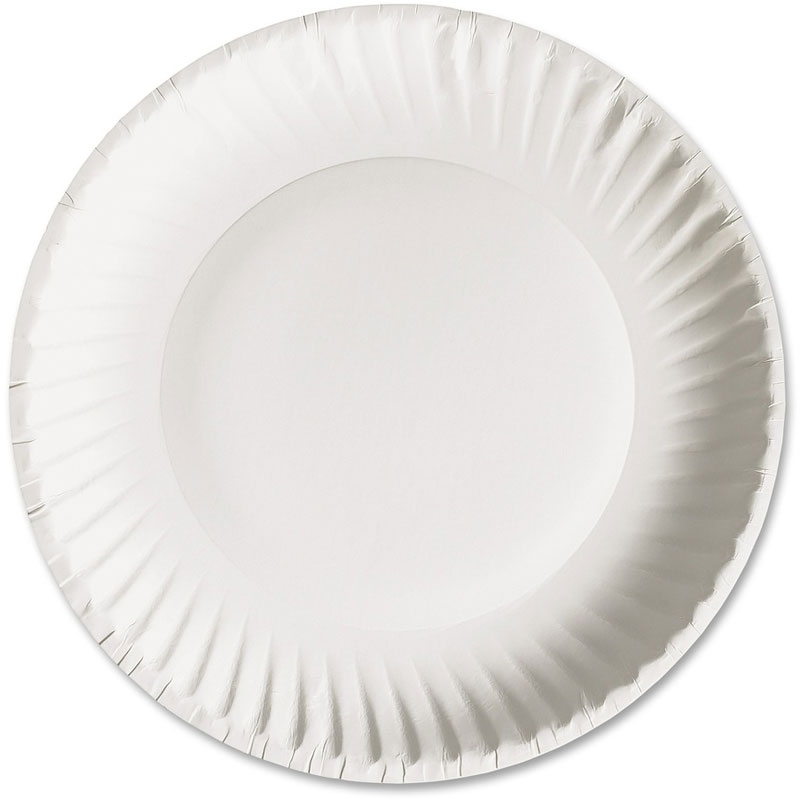 "6"" Uncoated Paper Plate 1000/Cs"