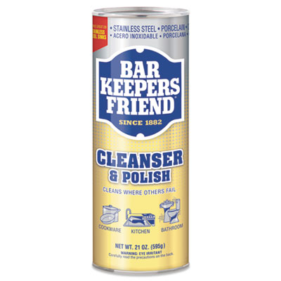 Bar Keepers Friend - Powdered Cleanser and Polish, 21 oz Can, 12/Cs