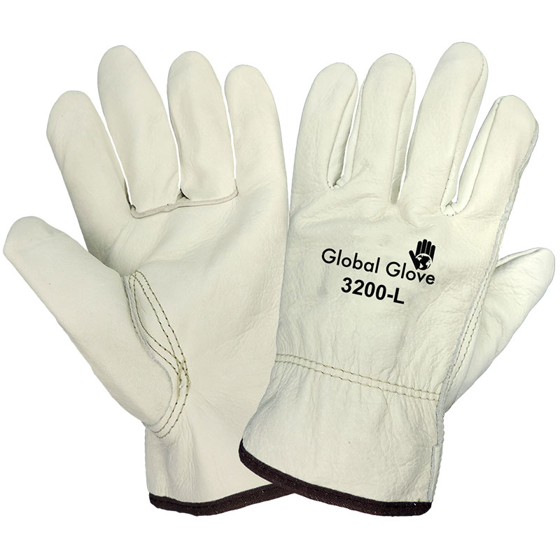 Pig Grain Leather Driver Glove, X-Large, 12 Pair/Pkg