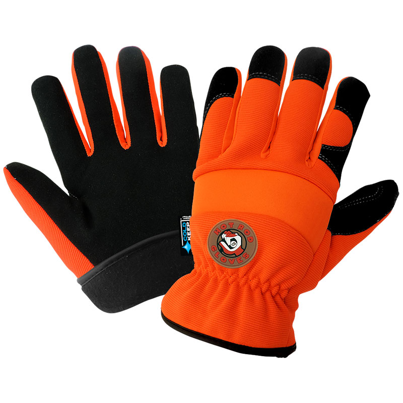 Hot Rod - Performance Sports Style, High-Visibility, Insulated Waterproof Winter Gloves. Medium 12/Pkg