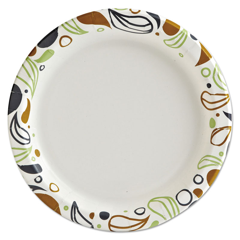 "6"" Deerfield Printed Coated Paper Plates,1000/Cs"