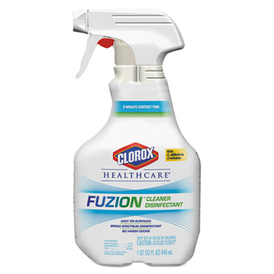 Fuzion Cleaner Disinfectant, Unscented, 32 oz Spray Bottle, 9/Cs