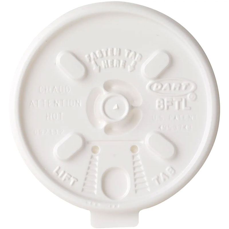 Dart Plastic Lift N' Lock™ Lids. White. 1000/Cs