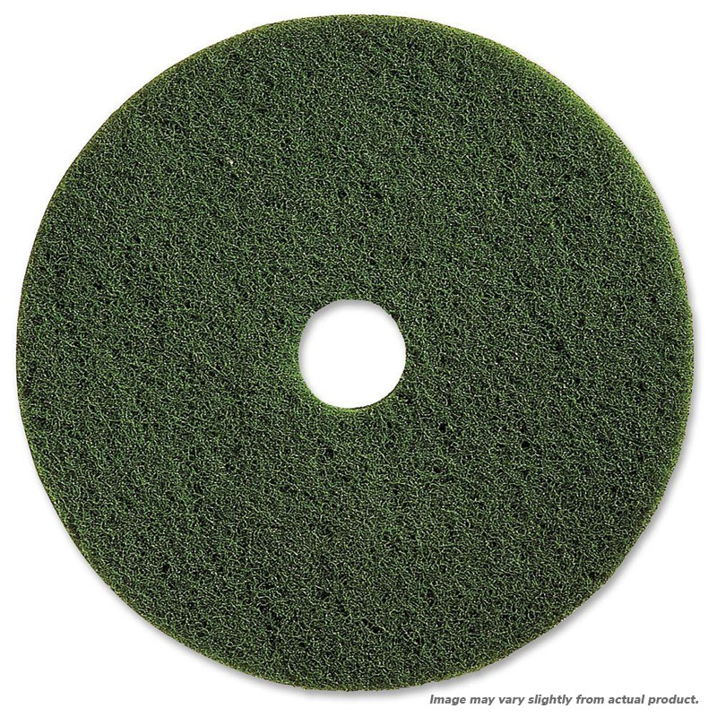 "19"" Green Scrubbing Floor Pad. 5/Cs"