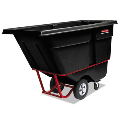 1/2 Cu. Yard Rotomolded Tilt Truck. 1400 Lb. Capacity. Black. 1/Ea