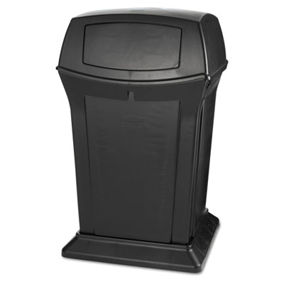 Ranger® Containers, with 2 Doors. 45 Gallon. Black. 1/Ea