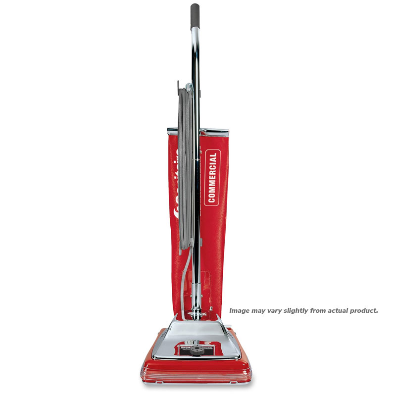 Sanitaire 7 Amp, 18 qt. Shake Out Bag Upright Vacuum, Chrome Hood, 1/Ea