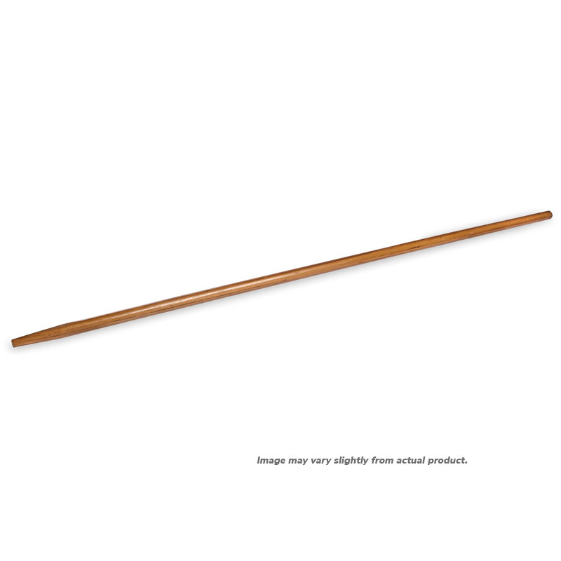 "Tapered Wood Broom Handle. 60"" x 1-1/8""D. 1/Ea"