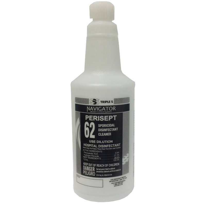 Perisept Use Dilution Disinfectant 32 oz. Refill Bottle w/flip-top, 12/c