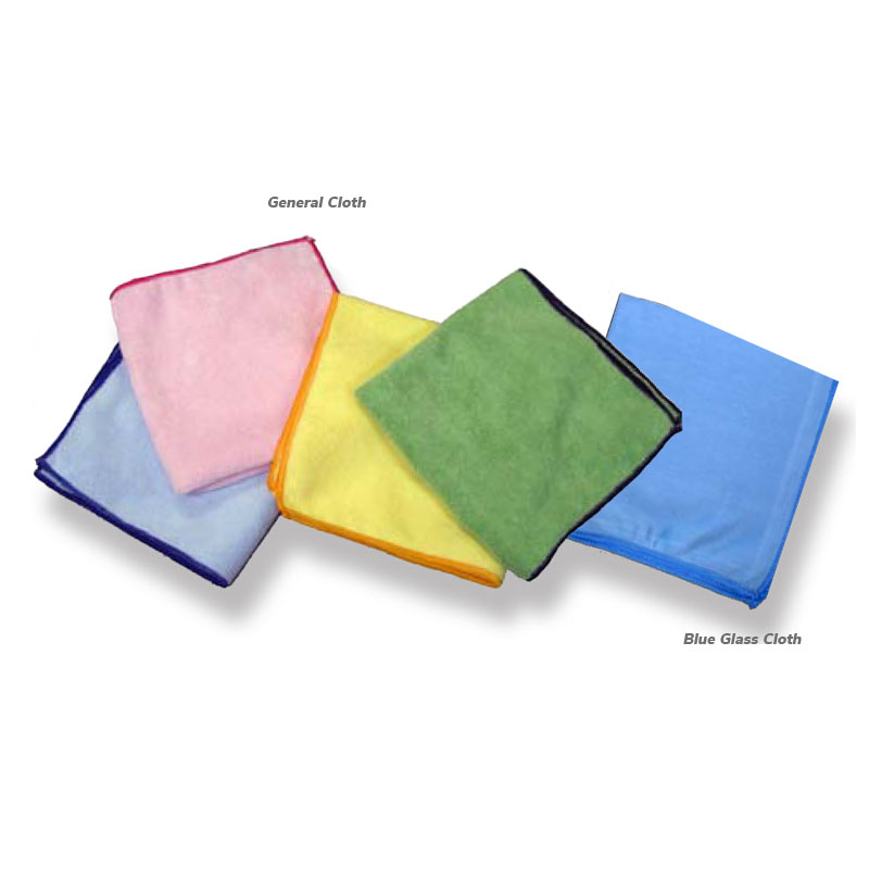 "NexGen 16""x16"" Pink General Cleaning Microfiber Cloth, 24/Cs"