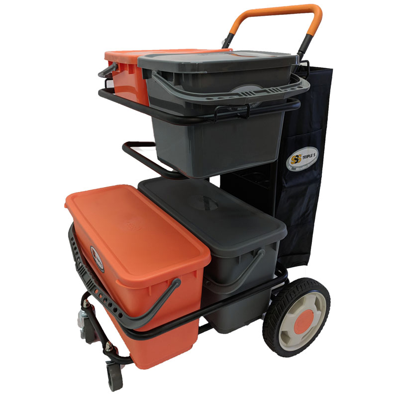 NexGen Cleaning Dolly and Buckets, 1/Ea
