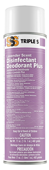 Lavender Disinfectant Deodorant Plus. EPA Registered 12/Cs