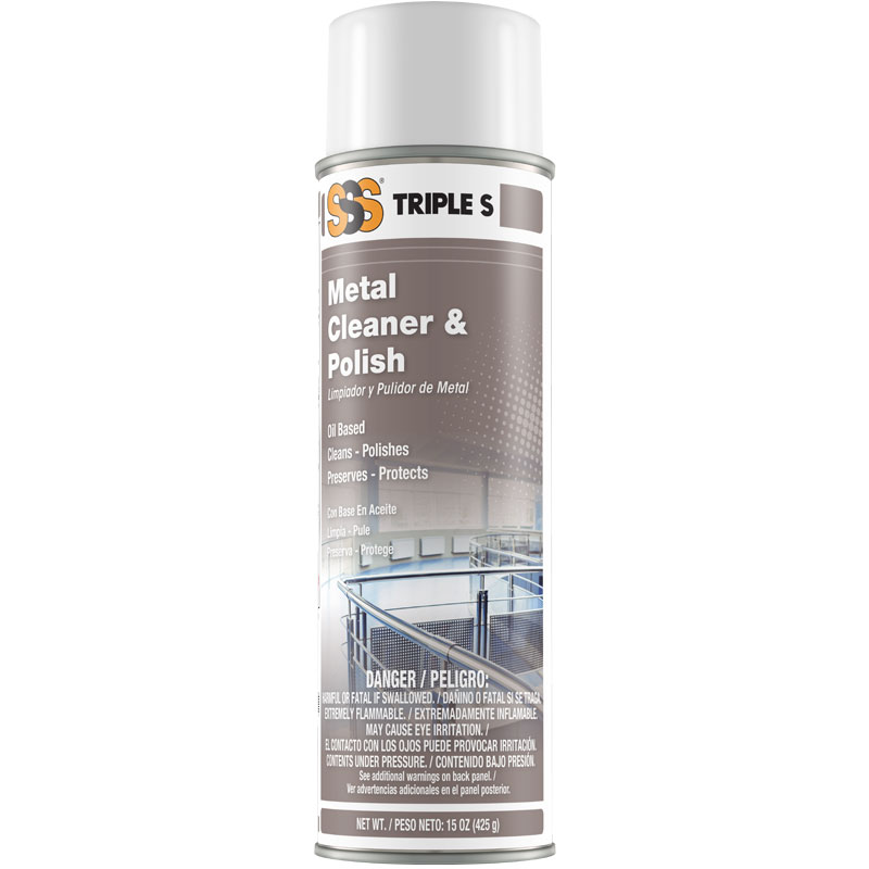 SSS Metal/Stainless Steel Cleaner & Polish, 15 oz cans, 12/cs