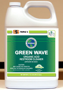 Green Wave Organic Acid Restroom Cleaner, 1 Gal. 4/Cs