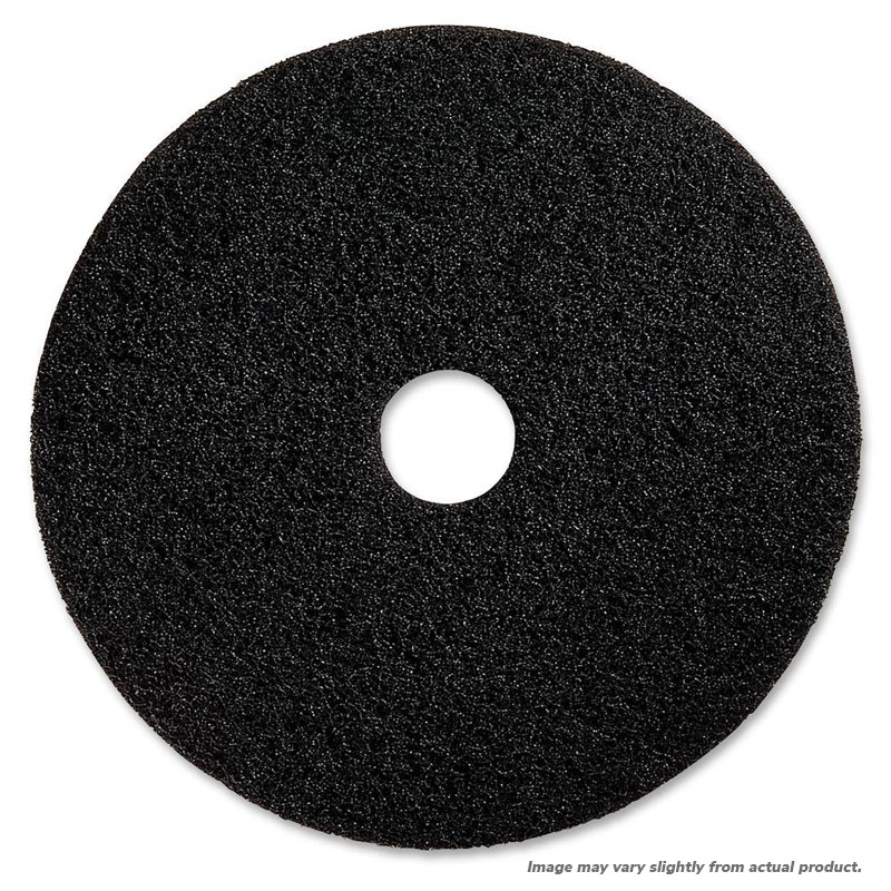 "19"" Black Stripping Floor Pad. 5/Cs"