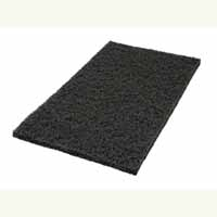 "14"" x 28"" Black Square Edge Floor Pads 5/Cs"