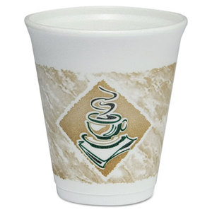 8 oz. Dart Gourmet Design Foam Hot/Cold Cup, 1000/Cs