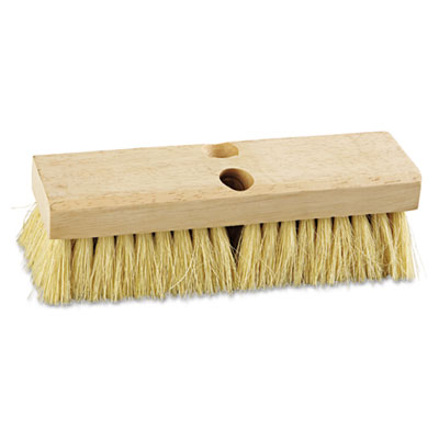 "Deck Brush. Tampico Bristles 10"" Wide. 1/Ea"