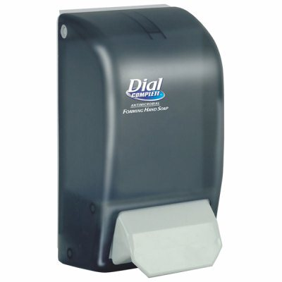 Dial Complete® Foaming Soap Dispenser, 1 Liter, Smoke. 1/Ea