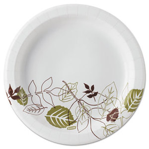 "Dixie Pathways Medium weight Paper Plates, 8 1//2""  600/Cs"