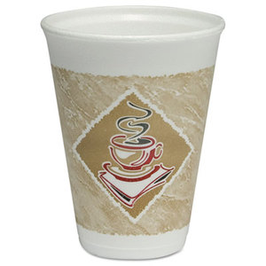 12 oz. Dart Gourmet Design Foam Hot/Cold Cup, 1000/Cs