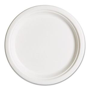 "9"" Heavy Weight White Paper Plate. 500/Cs"