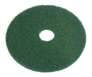 "20"" Green Scrubbing Floor Pad. 5/Cs"
