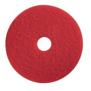 "18"" Red Spray Buffing Floor Pad. 5/Cs"