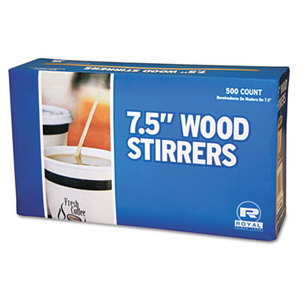 "7-1/2"" Wooden Coffee Stirrer. 10/500 Cs"