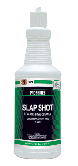 Slap Shot Low Acid Bowl Cleaner. 1 Quart. 12/Cs