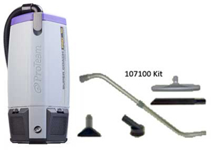 ProTeam SuperCoach Pro 10 Backpack Vacuum. W/ 107100 kit. 1/Ea