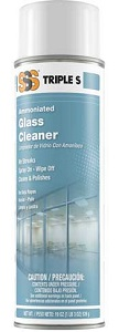 SSS Glass Cleaner, 19 oz cans, 12/Cs