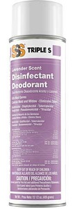 SSS Disinfectant Deodorant, 15.5 oz cans, 12/Cs