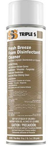 SSS Foam Disinfectant Cleaner, 19 oz cans, 12/Cs