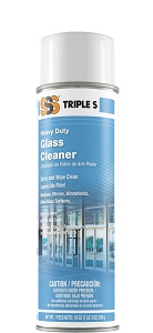 SSS Heavy Duty Glass Cleaner, 19 oz cans, 12/cs