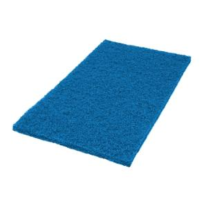 "14"" x 20"" Blue Square Edge Floor Pads, 5/Cs"