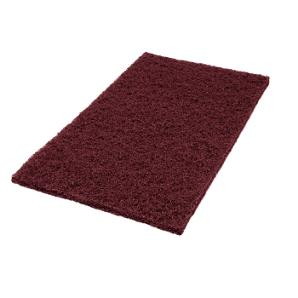 "14"" x 20"" Eco1000 Maroon Strip-Prep Pad, 10/Cs"