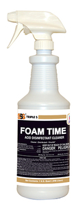 Foam Time Acid Disinfectant Cleaner, 1 Quart. 12/cs.