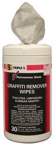Triple S® Graffiti Remover Wipes, 30/Canister. 6/Cs.