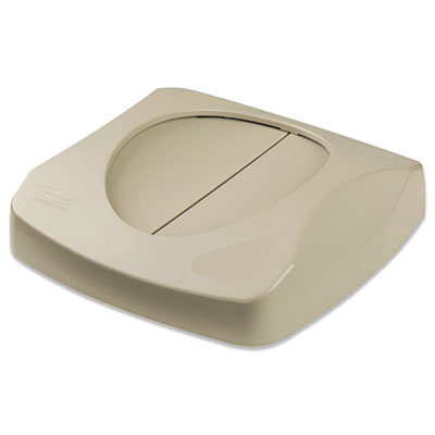Swing Lid. Fits 23 Gallon Square Containers. Beige. 1/Ea.