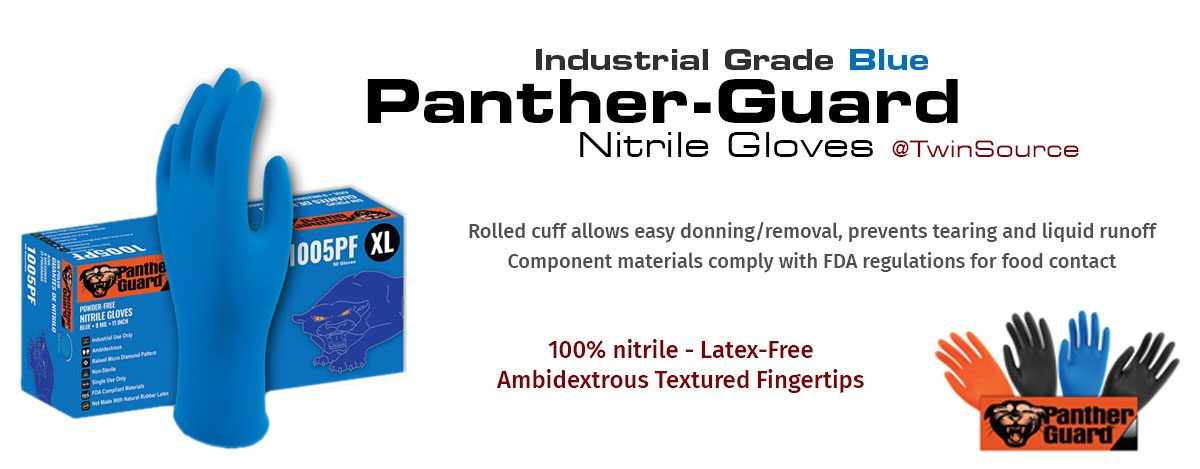 Panther Guard Industrial Grade Blue Nitril Gloves