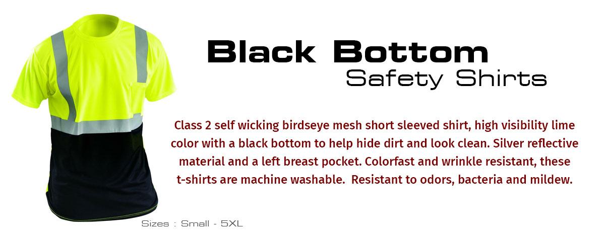 Black Bottom Safety Shirts by FrogWear HV