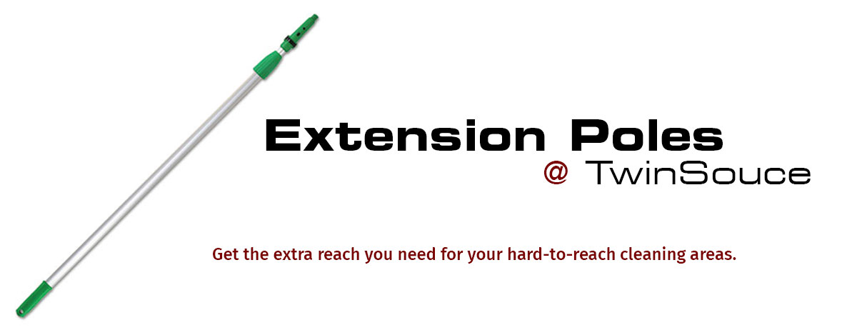 Get the reach you need with extension poles