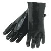 Economy Grade Black PVC Gloves. Smooth Finished. Large. 12 Pairs