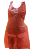 "28"" x 46"" Red Disposalbe Poly Apron 1.5 mil 100/Box"