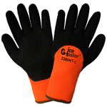 Ice Gripster® Foam Black Rubber Gloves, Small, 1 Pair
