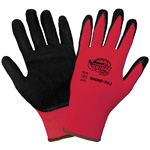 Tsunami Grip® Gloves 500MF Mach Finish on Red Nylon, Small, 12 Pair/Pkg