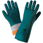 "Frogwear Cut Resistant, 14"" Nitrile Supported Gloves, 18 Gauge Seamless Tuffalene, ANSI Cut Level A4, Medium,12 Pair/Pkg"